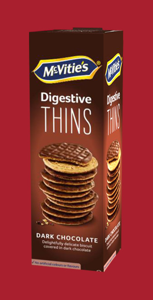 McVitie's Digestive Thins Dark Chocolate